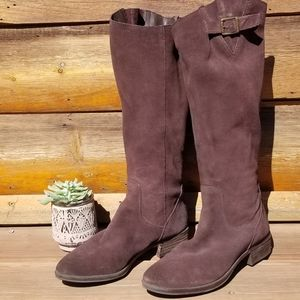 Sam Edelman Dark Chocolae Suede Riding Boot